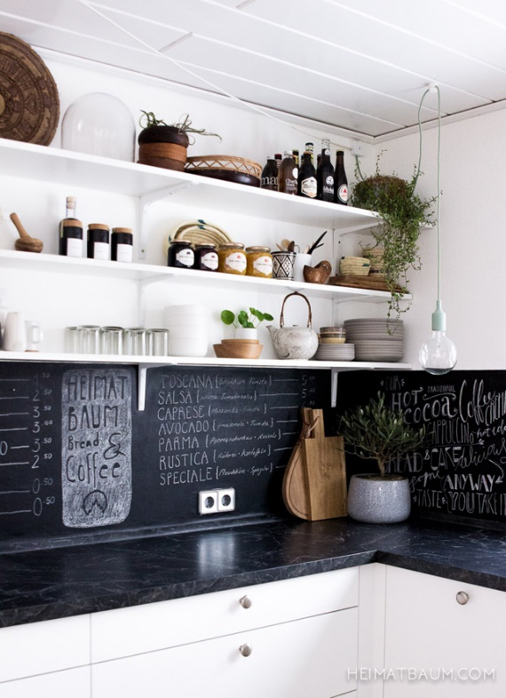 Actual Chalkboard Backsplash Ideas