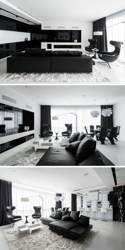 Monochromatic Modern Living Room Ideas
