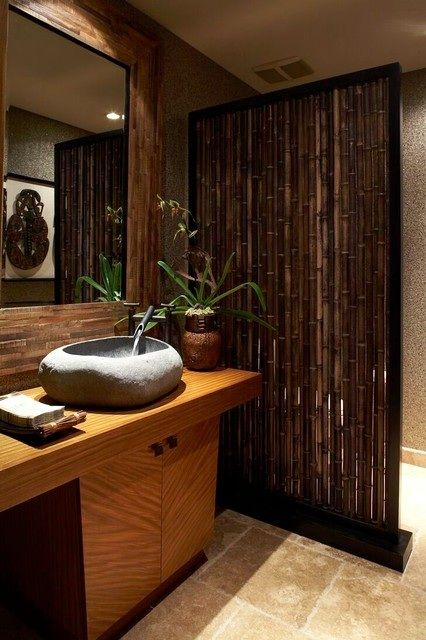 Oriental flavor bathroom wall decor