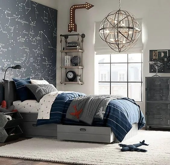boys bedroom lighting