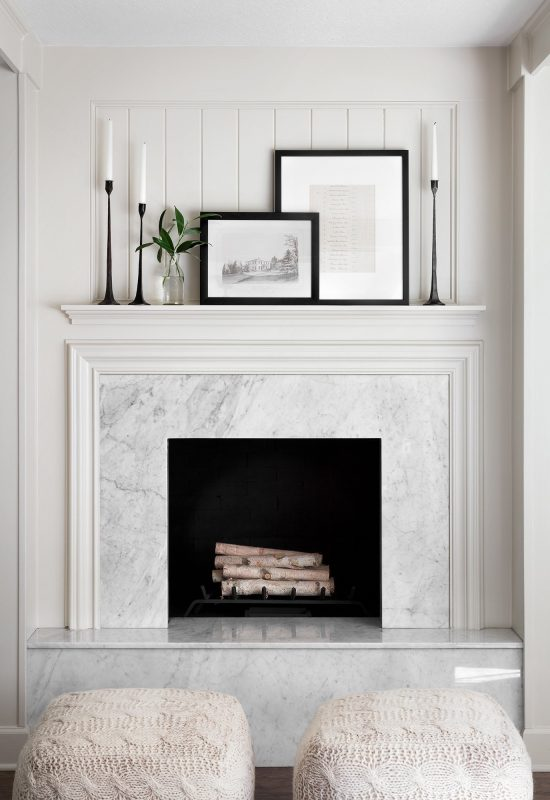 fireplace white marble surround