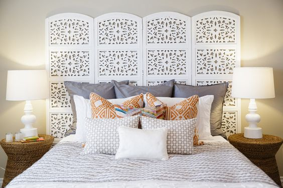 Screen headboard ideas