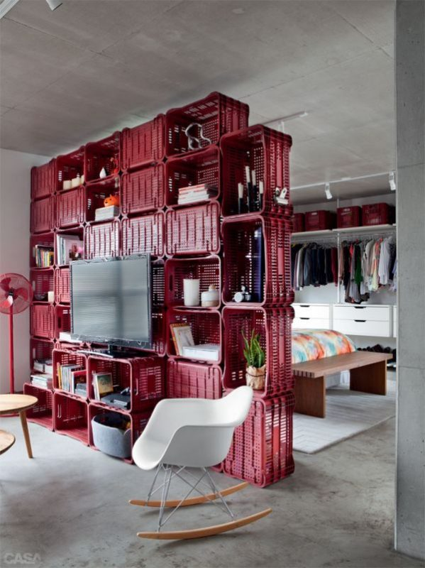Cool Staggered Box Ideas. Staggered Box Room Divider Ideas
