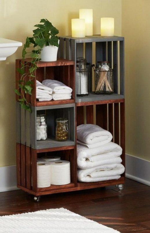 Wood Bathroom Storage Ideas
