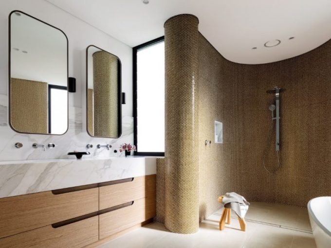 curvy accent master bathroom ideas