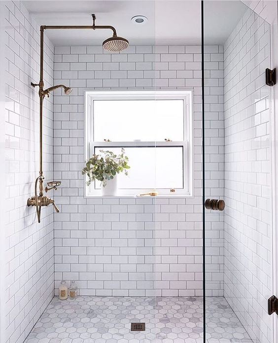 small window bathroom tiles ideas