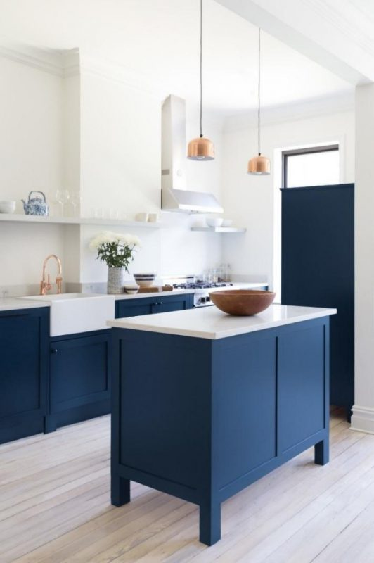 Navy Blue Kitchen Cabinet Ideas