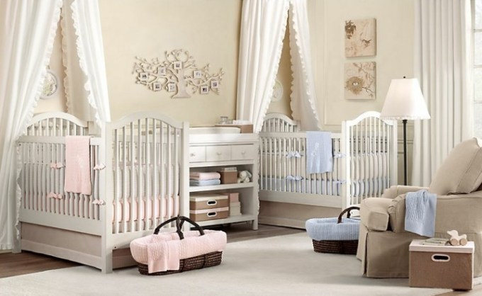 Twin Baby Girl Room