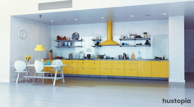 Yellow Zone Kitchen Decorating Ideas