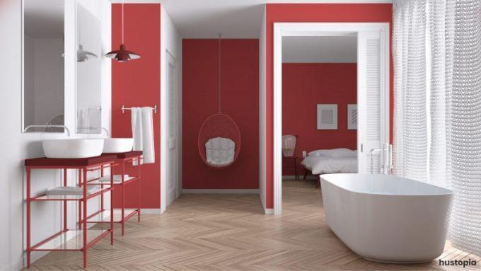 Amazing Red Ideas de decoración de baño