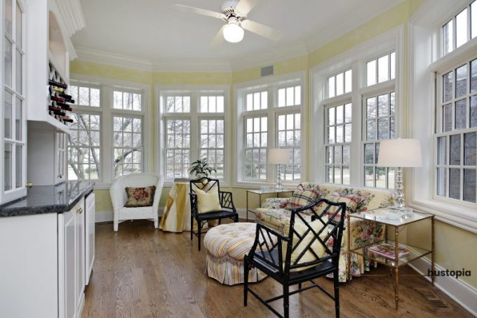 Hampton sunroom ideas with calm palette