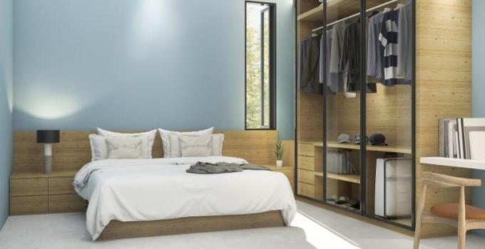 Frame and Glass Concept of closet door ideas