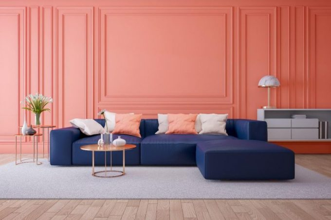 Pink Living paint Room ideas