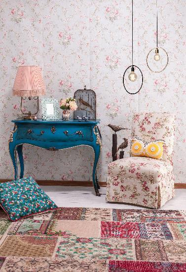 worn floral rugs ideas