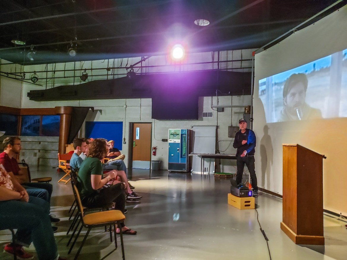 Famous 'Bubble Boy' director speaks to HutchCC students