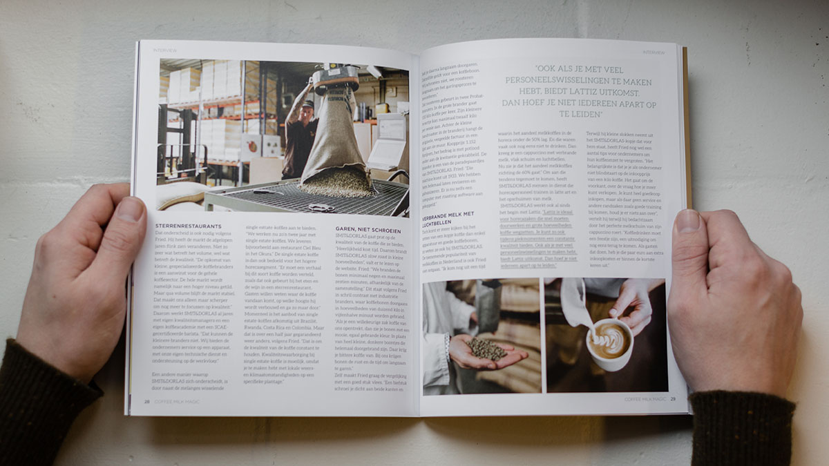 Publicatie Coffee Milk Magic magazine Smit en Dorlas koffie CMM magazine 03