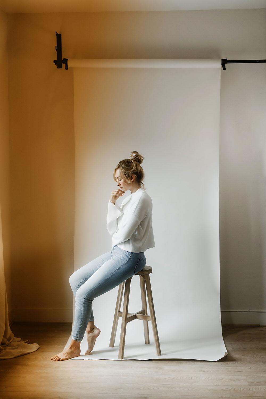 Fotoshoot Studio | Portret serie Anouck Nijmegen studio opstelling daglicht Nanlite Canon