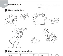 English Adventure Starter A and B Worksheet