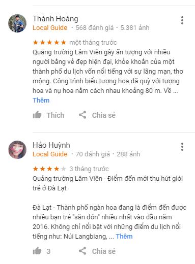 Review Quảng trường Lâm Viên