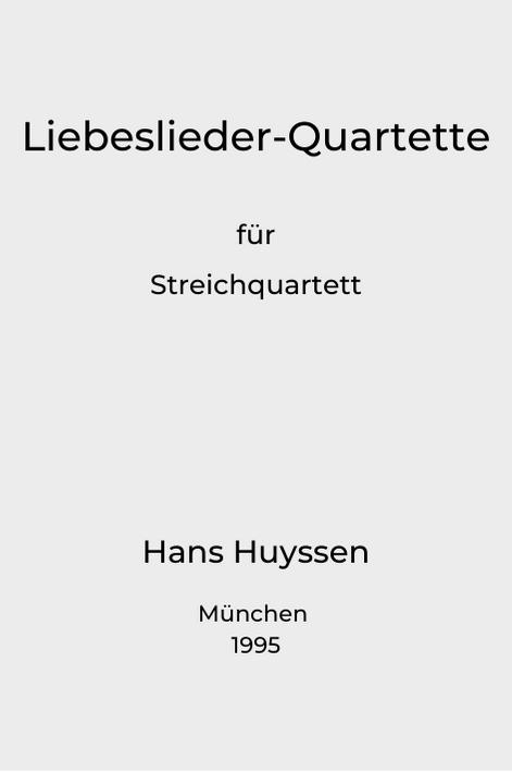 Titlepage, Liebeslieder Quartette