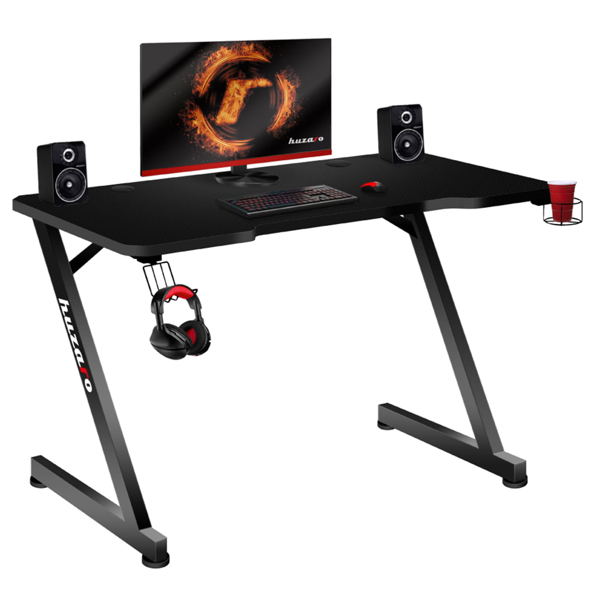 Gaming Desk Huzaro LED RGB 1