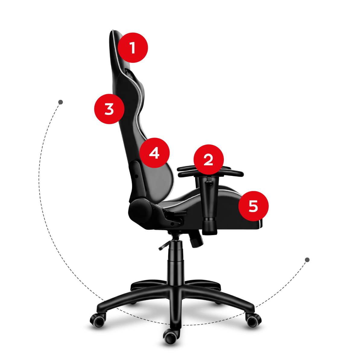 Gaming chair Force 6.0 grey10