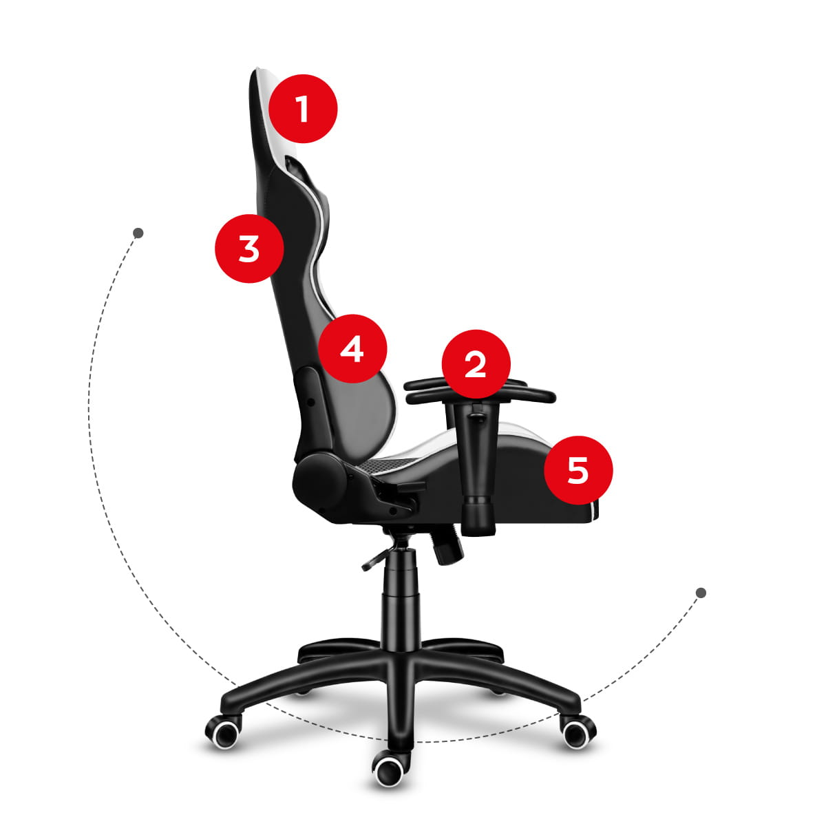 Gaming chair Force 6.0 white9