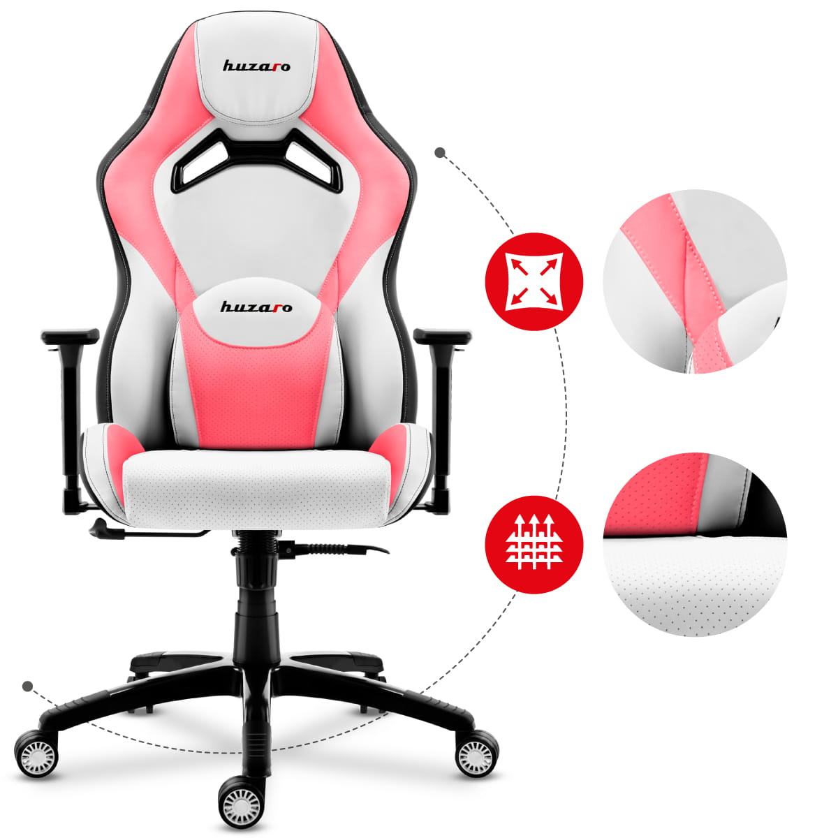 Gaming chair Force 7.3 pink2