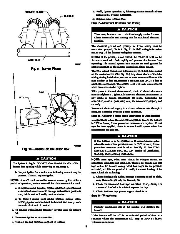 Carrier 58MCA 9SM Gas Furnace Owners Manual
