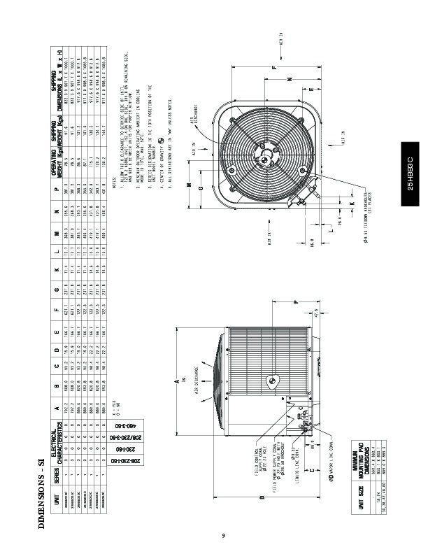 Carrier 25hbb3c 3pd Heat Air Conditioner Manual