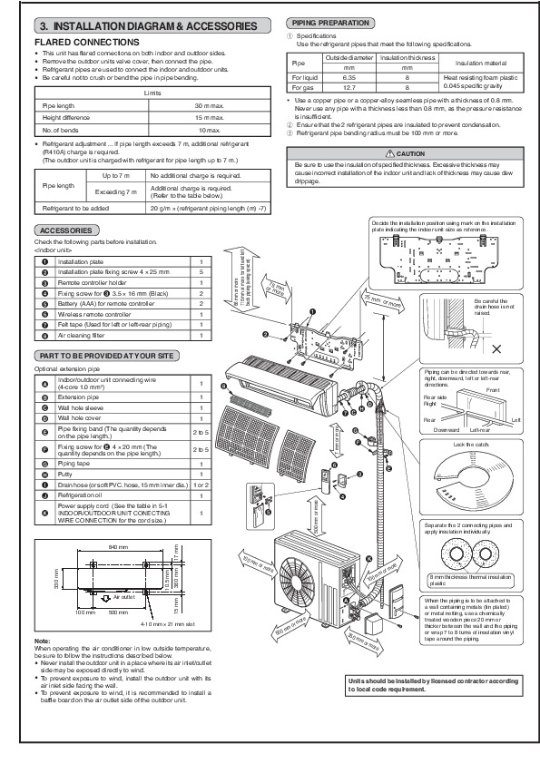 Mitsubishi air condition manual