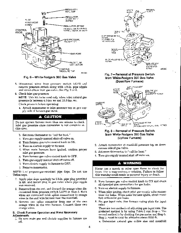 Carrier 58D 58S 14SI Gas Furnace Owners Manual