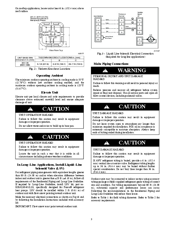 Carrier 25vna 1si Heat Air Conditioner Manual