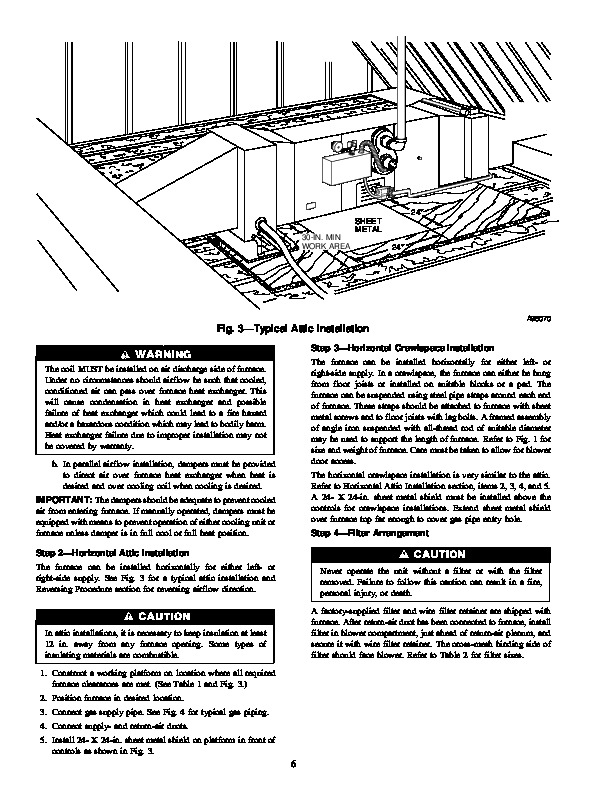 Carrier 58EFB 1SI Gas Furnace Owners Manual