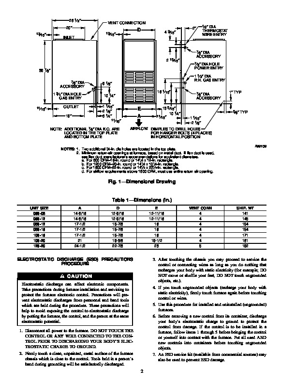 Carrier 58TMA 8SI Gas Furnace Owners Manual