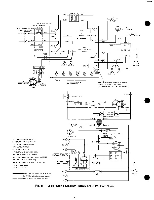 3500a816 Wiring Diagram Coleman EB15B Electric Furnace