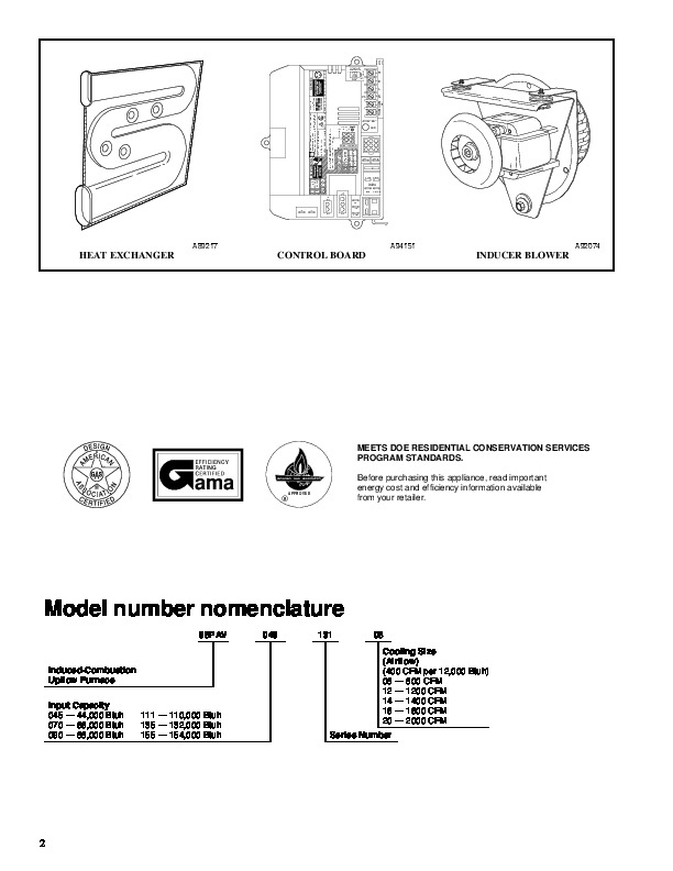 Carrier 58PAV 5PD Gas Furnace Owners Manual