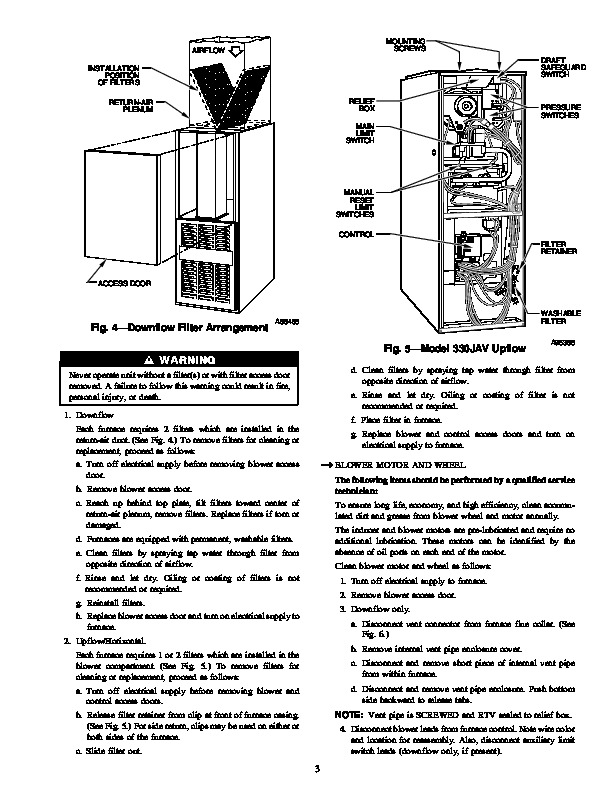 Carrier 58D 58U 7SM Gas Furnace Owners Manual