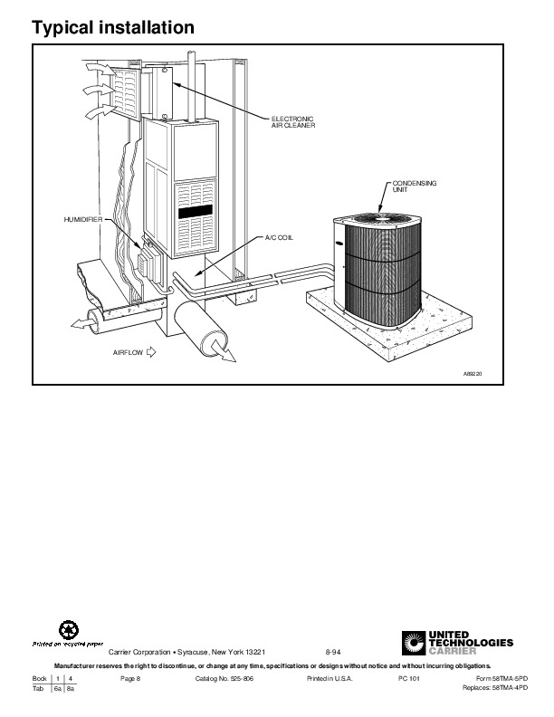 Carrier 58TMA 5PD Gas Furnace Owners Manual