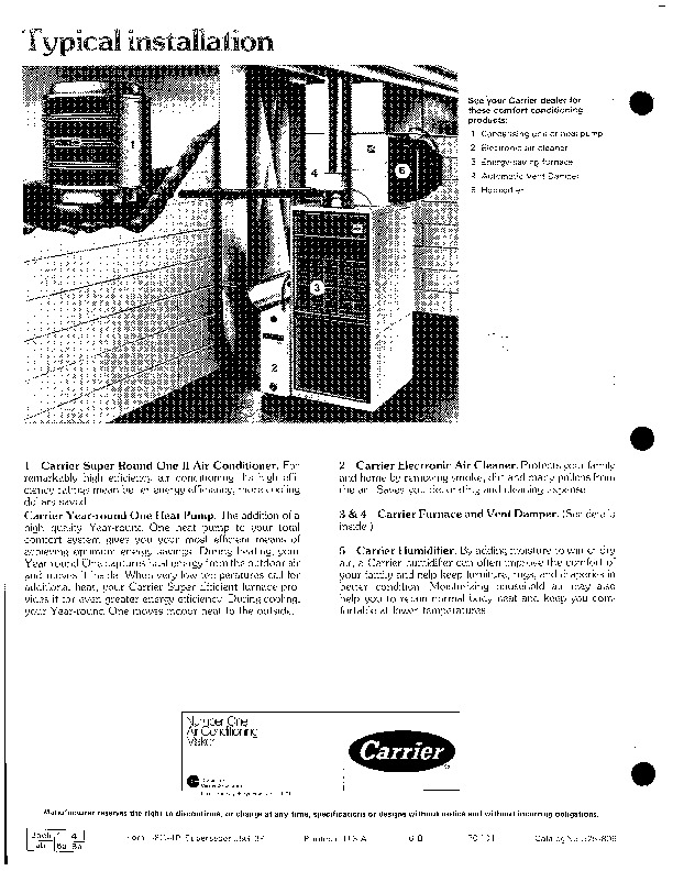 Carrier 58G 4P Gas Furnace Owners Manual