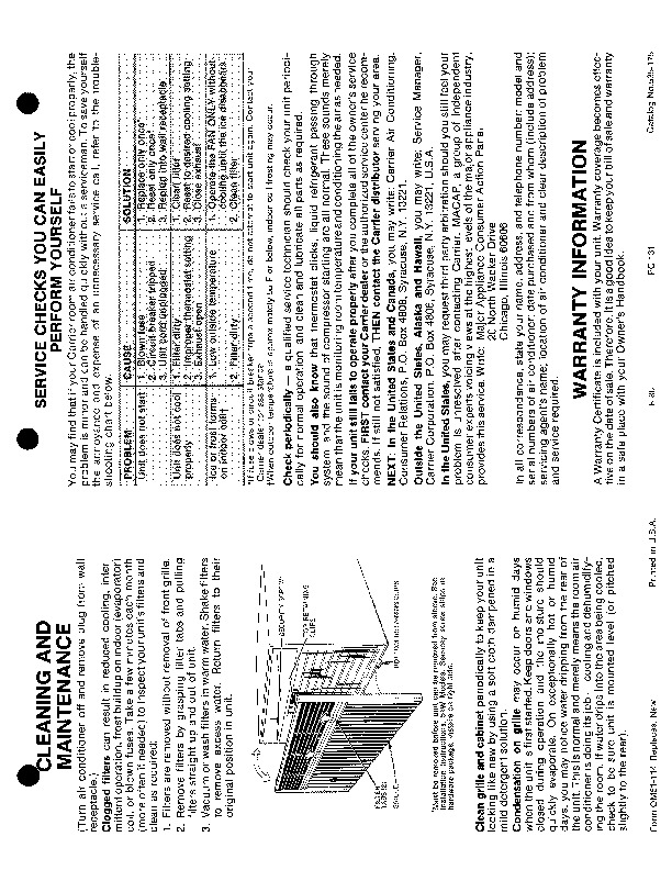 Carrier 51 114 Heat Air Conditioner Manual