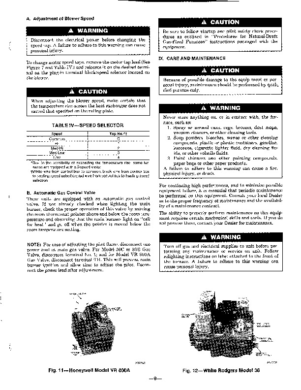 Carrier 58GP 58GS 2SI Gas Furnace Owners Manual