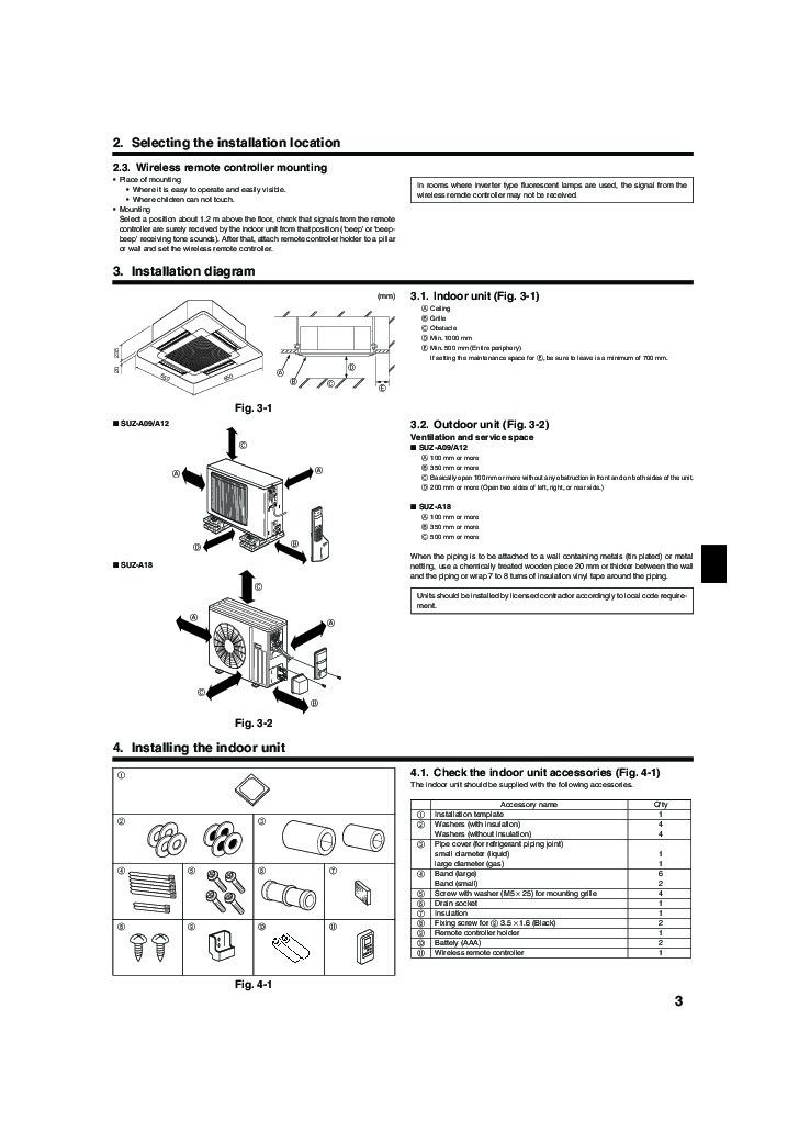 Mitsubishi Mr Slim BG79U163H01 SLZ A09 A12 A18AR Ceiling