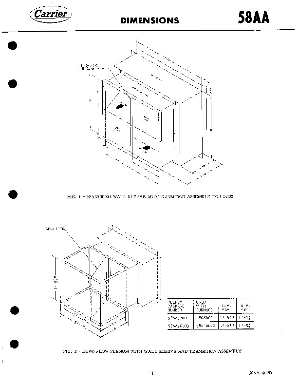 Carrier 58AA 60PD Gas Furnace Owners Manual