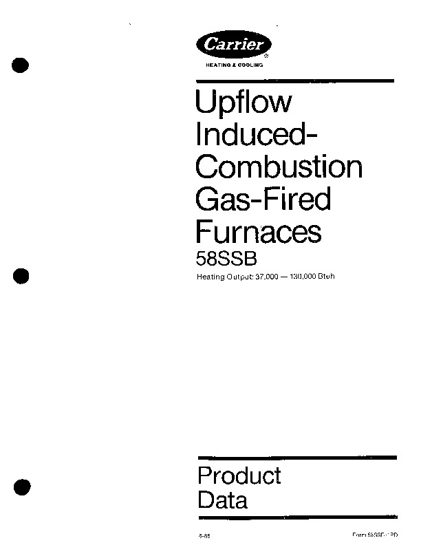 Carrier 58SSB 1PD Gas Furnace Owners Manual