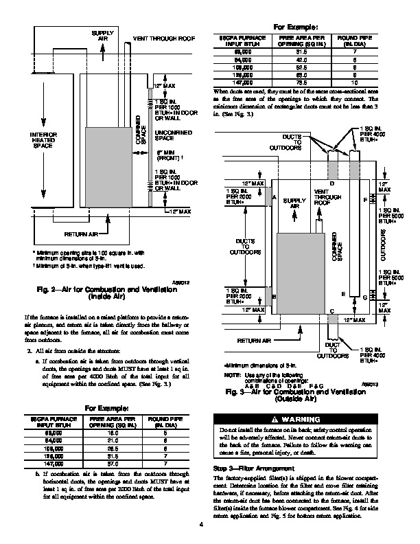 Carrier 58GF 3SI Gas Furnace Owners Manual