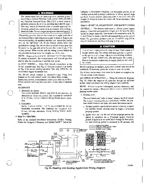 Carrier 58PA 4SI Gas Furnace Owners Manual