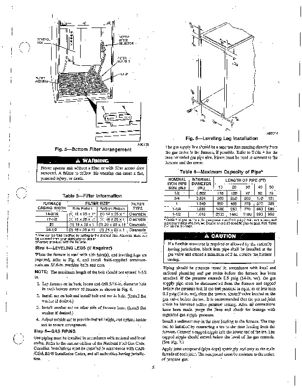 Carrier 58GF 2SI Gas Furnace Owners Manual