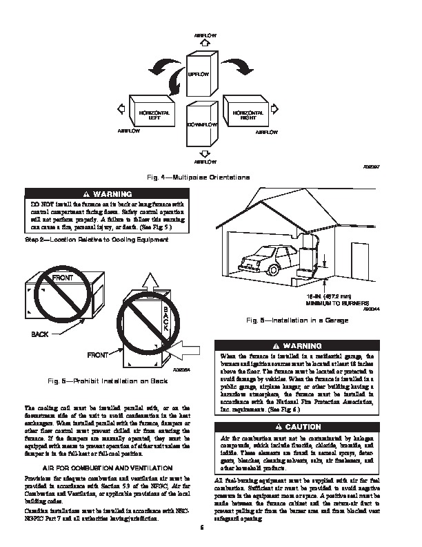 Carrier 58DL 1SI Gas Furnace Owners Manual