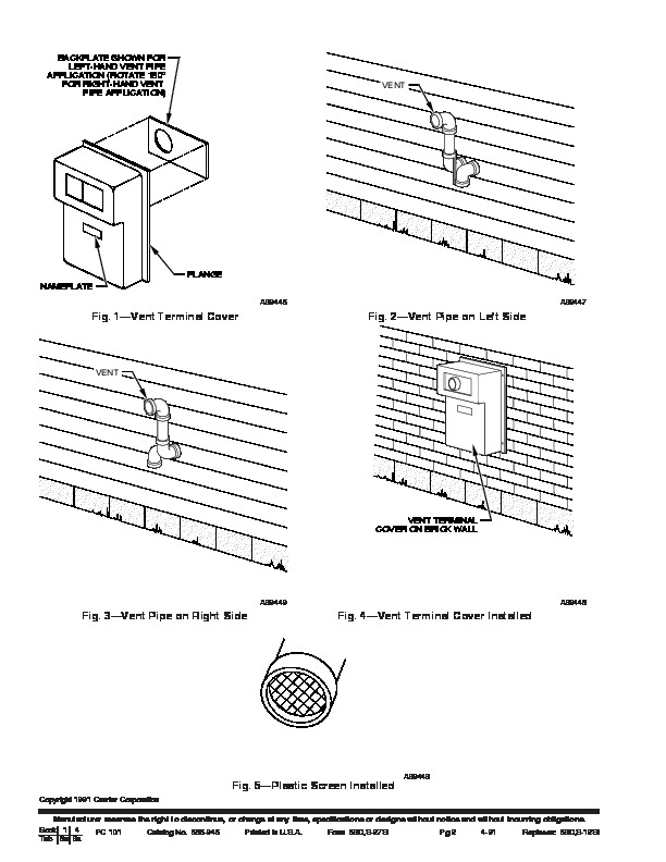 Carrier 58D 58S 27SI Gas Furnace Owners Manual
